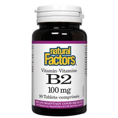 Natural Factors Vitamin B2 100 mg