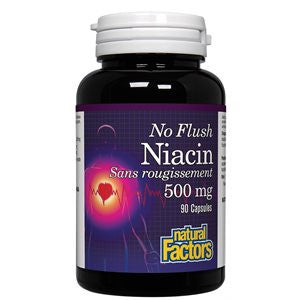 Natural Factors No Flush Niacin 500 mg