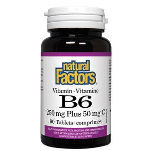 Natural Factors Vitamin B6 250 mg Plus 50 mg C