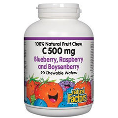 Natural Factors C 500 mg Blueberry, Raspberry and Boysenberry