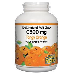 Natural Factors C 500mg Tangy Orange