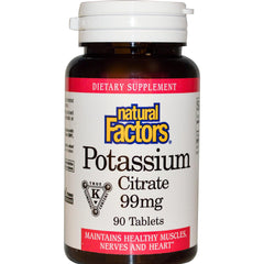 Natural Factors Potassium Citrate 99 mg