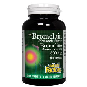Natural Factors Bromelain Pineapple Source 500 mg