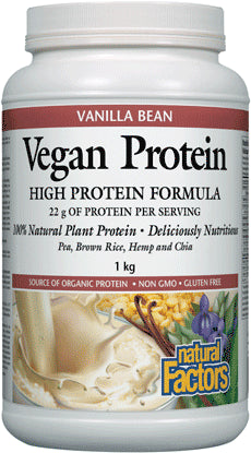 Natural Factors Vegan Protein High Protein Formula Vanilla Bean