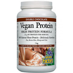 Natural Factors Vegan Protein High Protein Formula Double Chocolate