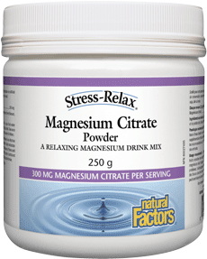 Natural Factors Stress-Relax Magnesium Citrate Berry Drink Mix