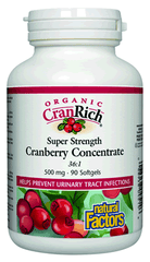 Natural Factors Organic CranRich Super Strength Cranberry Concentrate