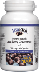 Natural Factors AcaiRich Super Strength Acai Berry Concentrate