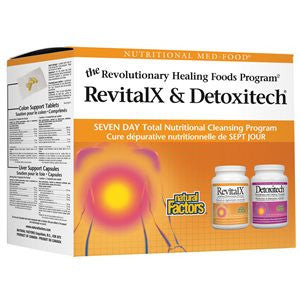 Natural Factors RevitalX & Detoxitech Seven Day Total Nutritional Cleansing Program