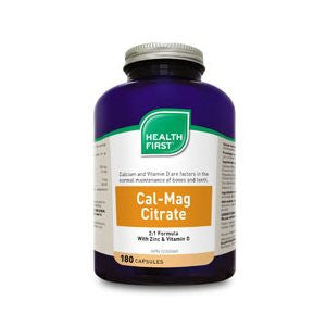 Health First Cal-Mag Citrate 2:1 with Zinc and D