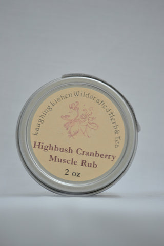 Laughing Lichen Highbush Cranberry Muscle Rub