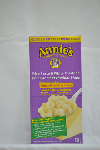 Annie's Gluten Free Rice Pasta and White Cheddar Shells