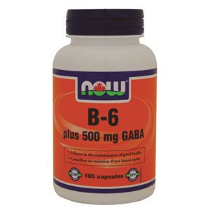GABA 500MG WITH B-6 NOW BRAND