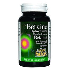 Natural Factors Betaine Hydrochloride with Fenugreek