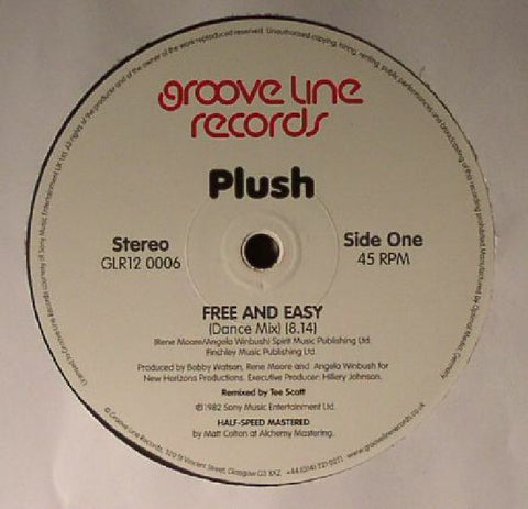 Plush - Free And Easy (Dance Mix) / Burnin' Love (Dance Mix)