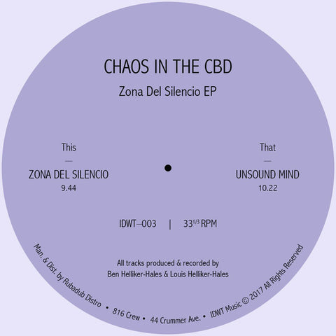 Chaos In The CBD ‎– Zona Del Silencio EP
