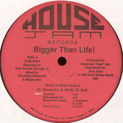 Bigger Than Life! ‎– World Of Make Believe [VG+]