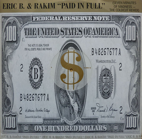 Eric B. & Rakim ‎– Paid In Full (Seven Minutes Of Madness - The Coldcut Remix) [VG+/VG+]