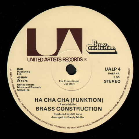 Brass Construction ‎– Ha Cha Cha (Funktion) [VG+]