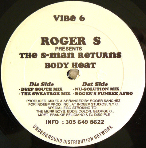 Roger S ‎– The S-Man Returns / Body Heat [VG+]