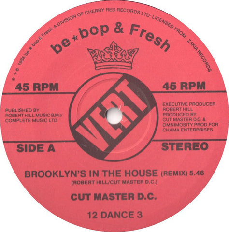 Cut Master D.C. ‎– Brooklyn's In The House [VG+/VG+]