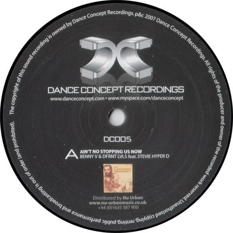 Benny V & Dfrnt Lvls / Stevie Hyper D. ‎– Aint No Stopping Us Now / Buffalo Soldier (Child Support Remix) [VG+/VG+]