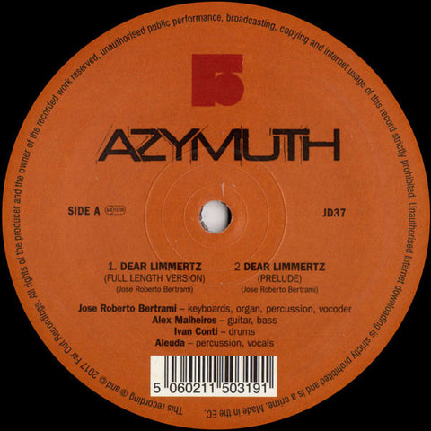 Azymuth ‎– Dear Limmertz
