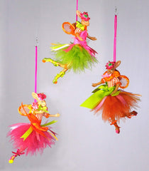 "Katherine's Collection Set Three 10"" Honey Suckle Easter Bunny Fairy Ornaments Free Ship-IN STOCK"