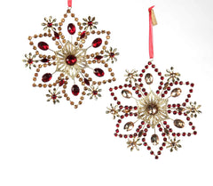 "Katherine's Collection Holiday Cheer Christmas Collection Twelve Assort 6"" Art Deco Jeweled Snowflake Ornaments Free Ship"