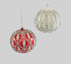 Katherine's Collection Christmas Spectacular Collection Four Assort 120 mmSpectacular Best Friend Ornate Glass Ball Ornaments Free Ship