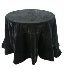 "Katherine's Collection Tricky Treats Halloween Collection 96"" Black Velvet Tablecloth Free Ship"