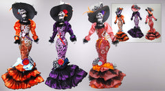 "Katherine's Collection Frida Love Halloween Collection Set THREE  Approx 22"" Catrina Skeleton Dolls Free Ship-IN STOCK"