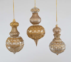 "Katherine's Collection The Gilded Seasons Collection Three Assort 6, 7 & 9"" Celebrations Cupola Glass Ornaments Free Ship"