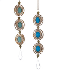 "Katherine's Collection Celestial Fantasy Christmas Collection Twenty-Four Assorted 7"" Celestial Turquoise Drop Ornaments Free Ship"