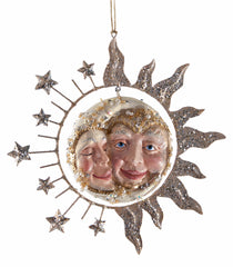 "Katherine's Collection Celestial Fantasy Christmas Collection  Four Assorted 7"" Sun Moon Embrace Ornaments Free Ship"