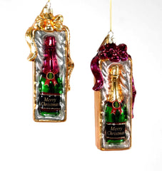 "Katherine's Collection Holiday Cheer Christmas Collection Twelve Assort 6"" Champagne Glass Merry Christmas Ornaments Free Ship"