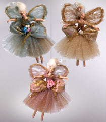 "Katherine's Collection Botanica Christmas Collection Set Three Approx 10"" Victorian Fairies Free Ship-IN STOCK"