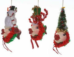 "Katherine's Collection Three Assort  3.75"" Christmas Kissing Fish Ornaments Free Ship"