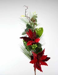 "Katherine's Collection Night Before Christmas Collection Six Extra Lg 42"" Christmas Poinsettia Branches Free Ship"