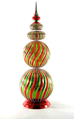 "Katherine's Collection Night Before Christmas Collection Two 29"" Christmas Topiary Finial Free Ship"