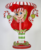"Katherine's Collection Noel Christmas Collection Extra Large 27"" Elf Holiday Container Vessel Free Ship-IN STOCK"
