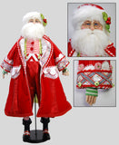 "Katherine's Collection 36"" Cuckoo Peppermint Santa Claus Doll Free Ship-ONLY ONE LEFT IN STOCK"