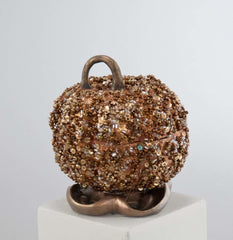 "Katherine's Collection The Gilded Seasons Collection Three 6"" Encrusted Pumpkin Boxes Free Ship"