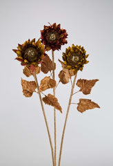 "Katherine's Collection The Gilded Seasons Collection Twelve 30"" Encrusted Sunflower Stems Free Ship"