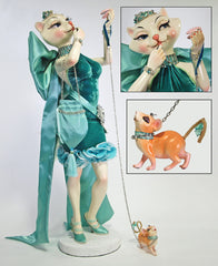 "Katherine's Collection 30"" Tiffany Fashionista Cat Doll With Mimi Mouse Pet Doll Free Ship-IN STOCK"