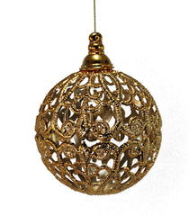 Katherine's Collection Royal White Christmas Collection Twelve 90 mm Filigree Ball Ornaments Free Ship