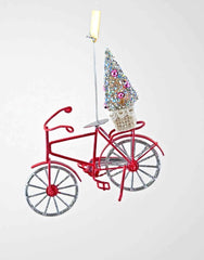 "Katherine's Collection Fifi Goes To Paris Christmas Collection Six 6"" French Bike Christmas Tree Ornaments Free Ship"