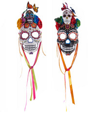 "Katherine's Collection Frida Love Halloween Collection Set Two Assorted 19"" Frida Love Skull Masks"