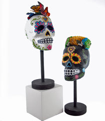 "Katherine's Collection Frida Love Halloween Collection Set Two Assorted 19"" Frida Skull Mannequins Free Ship"