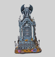 "Katherine's Collection Forest Cemetery Halloween Collection 16"" Gargoyle On Tombstone Free Ship"